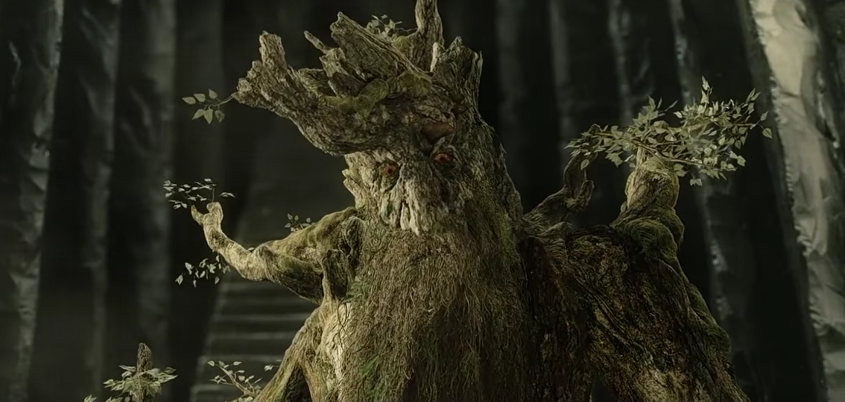 This image shows Treebeard the Ent in The Two Towers